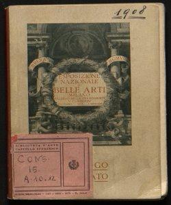 Esposizione nazionale di belle arti, autunno 1908 catalogo illustrato
