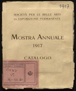 Mostra annuale 1917 catalogo