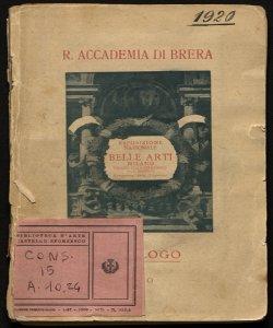 Esposizione nazionale di belle arti autunno 1920