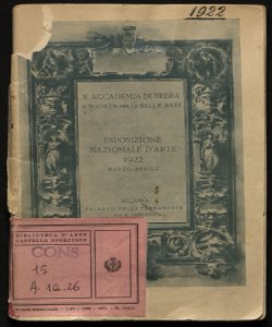 Esposizione nazionale d'arte marzo-aprile 1922