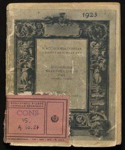 Esposizione nazionale d'arte ottobre-dicembre 1923
