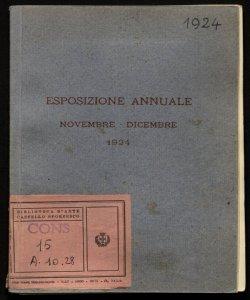Esposizione annuale novembre-dicembre 1924 \Società per le Belle arti ed Esposizione permanente!