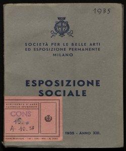 Esposizione sociale febbraio-marzo 1935