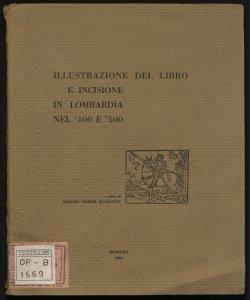 Illustrazione del libro e incisione in Lombardia nel '400 e '500 a cura di Sergio Samek Ludovici
