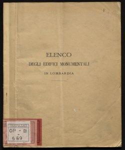 Elenco degli edifici monumentali in Lombardia