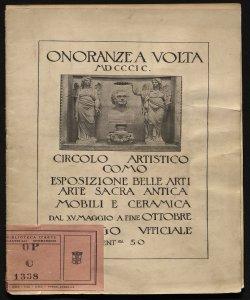 Catalogo esposizione belle arti, arte sacra, mobili e ceramiche
