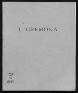 Un maestro Tranquillo Cremona, 1837-1878 Luca Beltrami