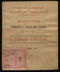 Esposizione postuma dei fratelli Domenico e Gerolamo Induno Marzo 1891