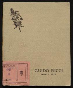 Esposizione postuma del pittore Guido Ricci, 1836-1897 (famiglia artistica di Milano)
