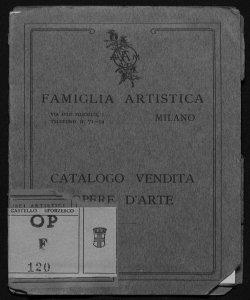 Catalogo delle opere d'arte donate dagli artisti soci della