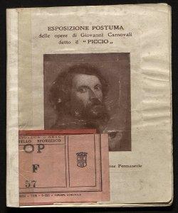Esposizione postuma delle opere di Giovanni Carnovali, detto il Piccio Società per le belle arti ed esposizione permanente, Milano, 1909