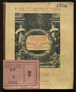 Esposizione nazionale di belle arti : autunno 1914 : catalogo