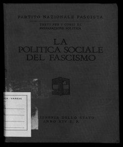 La politica sociale del fascismo