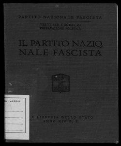 Il partito nazionale fascista