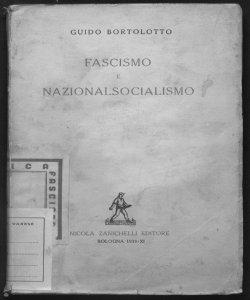 Fascismo e nazionalsocialismo Guido Bortolotto