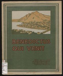 Benedictus qui venit numero unico in occasione dell'ingresso del novello prevosto di Lecco mons. Giovanni Borsieri, l'Immacolata, 8 dicembre 1930