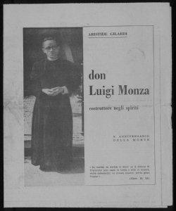 Don Luigi Monza costruttore negli spiriti Aristide Gilardi