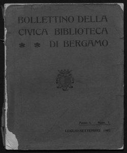 Bollettino della Civica biblioteca di Bergamo