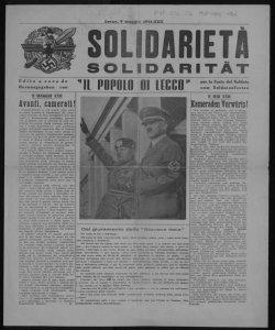 Solidarietà edito a cura de Il popolo di Lecco per la Festa del soldato