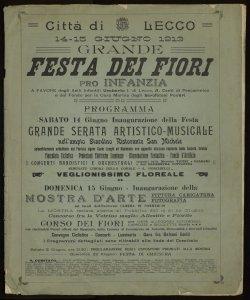 Pro infanzia Lecco, 14-15 giugno 1913