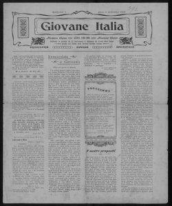 Giovane Italia numero unico, Lecco, 1884-1904