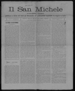 Il San Michele numero unico pubblicato a favore del fondo pel monumento ad Alessandro Manzoni da erigersi in Lecco