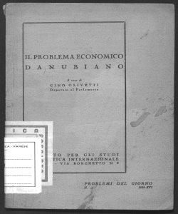 Il problema economico danubiano a cura di Gino Olivetti