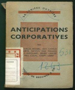 Anticipations corporatives École normale sociale maritime par Georges Renard ... \et al.!