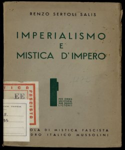 Imperialismo e mistica d'impero Renzo Sertoli Salis