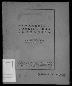 Armamenti e congiuntura economica a cura di Silvio Pozzani