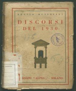 9:Discorsi del 1930 Benito Mussolini