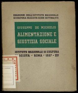 Alimentazione e giustizia sociale Giuseppe De Michelis