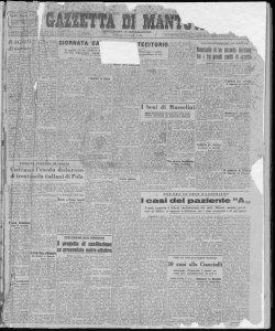Gazzetta di Mantova : quotidiano d'informazione