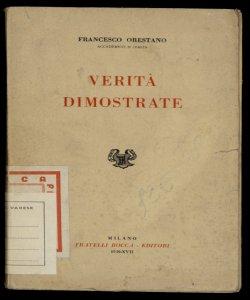 5: Verita dimostrate Francesco Orestano