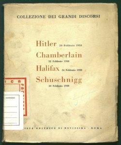 Collezione dei grandi discorsi Hitler Chamberlain