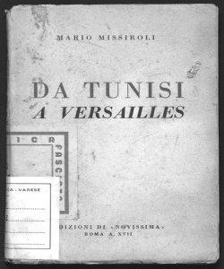 Da Tunisi a Versailles Mario Missiroli