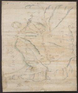 Disegno di Valderve bergamasca Francesco Quarengo, agrimensore