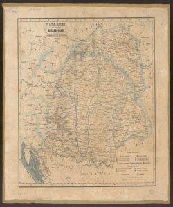 Teatro della Guerra dell'Indipendenza Magiaro-Slava comprendente Ungheria, Galizia, Transilvania e Croazia: 1849