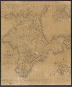 Carte de la Crimée pour suivre les opérations de la Guerre d'Orient