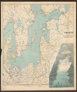 Il Mar Baltico coi paesi circonvicini : Russia, Svezia, Danimarca, Mecklemburg, Annover e Prussia