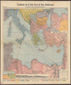 Tripolitania con la Parte Ovest del Mare Mediterraneo dimostrante il Piano della Guerra Italo-Turca Paul Langhans