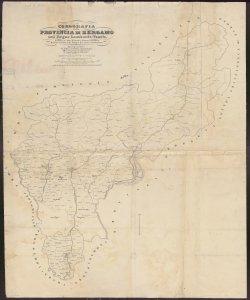 Corografia della Provincia di Bergamo nel regno Lombardo-Veneto, definita ne' suoi Distretti e Comuni Censuari formata in base delle mappe del nuovo Censimento