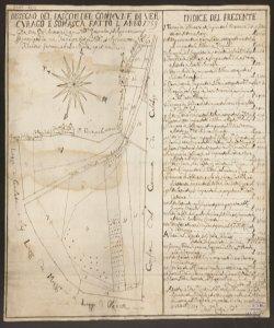 Dissegno del pascolo del Commune di Vercurago e Somasca fatto l'anno 1759  da me Gio. Antonio Crespi Nod. Geometra et Agrimensore e ricopiato da me Francesco Crespi Nod. et Agrimensore ..