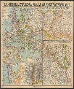 La guerra d'Europa fra le grandi potenze : 1914 / Prof. A. Ghisleri dir