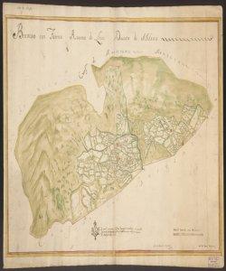 Copia della Mappa del Censimento di Brumano Milanese [del] 1722 Jacoby Ant.o Querenghi pub.o Berg.mi Not. et Agrimensore