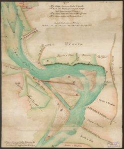 [Mappa dei confini tra il territorio bergamasco e milanese, Comune di Calolziocorte] Gio. Ant.o Urbani, Ingegnere alli Confini di Bergamo