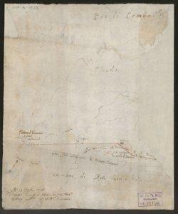 [Mappa dei confini tra il territorio bergamasco e milanese tra i comuni di Rota fuori e dentro e il comune di Brumano] Francesco Quarenghi