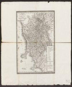 Carta geografica postale del Gran Ducato di Toscana