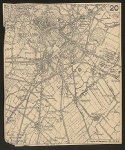 Foglio di Bergamo, 33, 3. S-E [mappa della città e dintorni]
