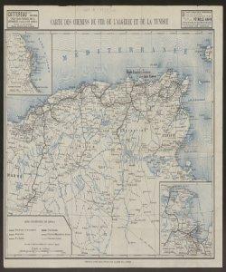 Carte des chemins de fer de l'Algerie et de la Tunisie